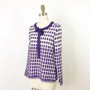 ⭐️NEW ARRIVAL Modcloth Purple Bow Neck Blouse XS
